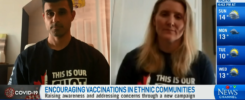 Hayley Wickenheiser and Guri Pannu interview with CTV News for This Is Our Shot vaccine campaign